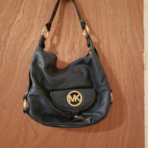 Michael Kors Fulton Navy Blue Bag-Needs TLC